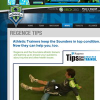 Regence Tips from the Trainer - Seattle Sounders FC